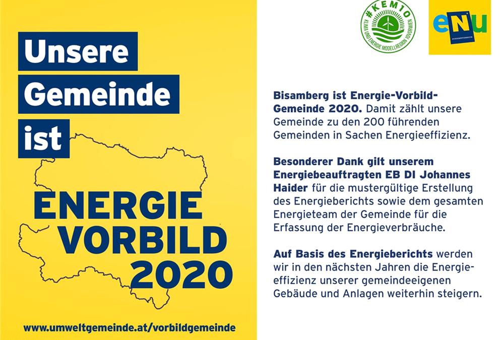 Bisamberg: Energie-Vorbild-Gemeinde 2020