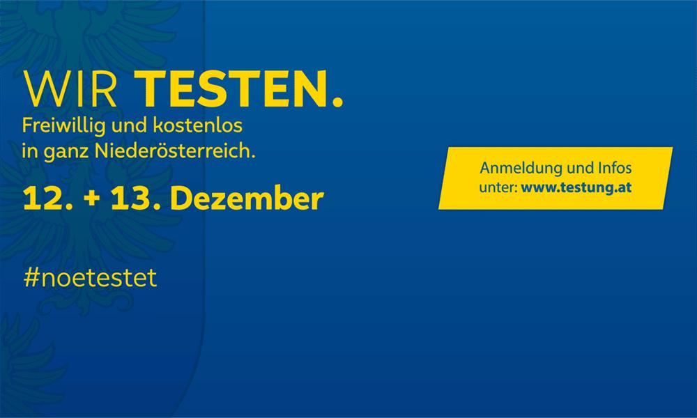 COVID-19 Massentestung am 12. und 13. Dezember: Allgemeine Informationen